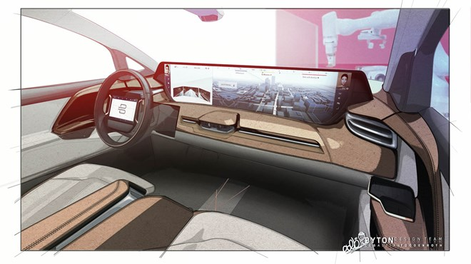 M-Byte Concept; design of the production SUV has been frozen and the interior will feature the concept's 48-inch display