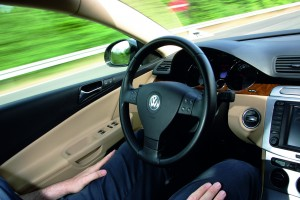 VW's hands-free driving test