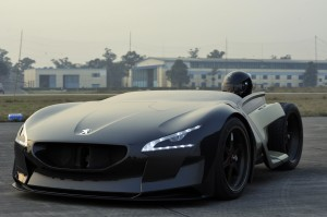 Peugeot's EX1 all-electric concept sports car