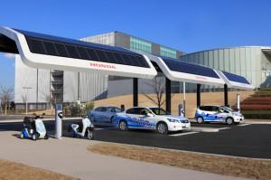 honda tests solar charging
