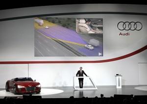 "Consumer Electronics Show (CES) Las Vegas 06./07.01.11/Rupert Stadler, Vorsitzender des Vorstandes der Audi AG bei der ""Keynote Speech"" im Rahmen der CES 2011 in Las Vegas."