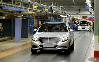 Start of production of the new S-Class at the Mercedes-Benz Sindelfingen plant