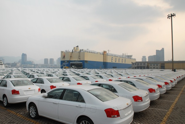 Geely Vehicles at Port