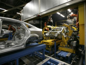 Production of the Ford Mondeo in Genk (Belgium)