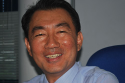 S.C. Byun, Managing Director, Great Eastern Shipping, agents for Hyundai Glovis