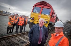 Port rail lines at Sunderland