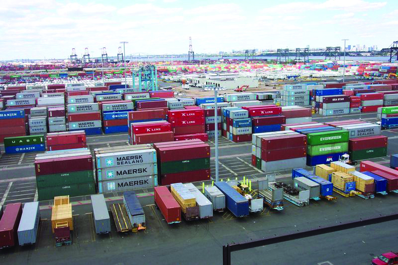 Shipping Containers at Port Elizabeth New Jersey terminal