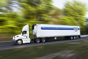 Penske Logistics open road stock image