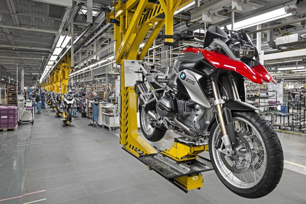 BMW bike production line
