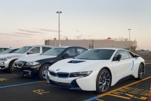 BMW automobiles at Pier 10 at the Port of Galveston