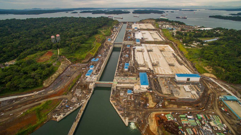 Ariel of Locks Panama Canal