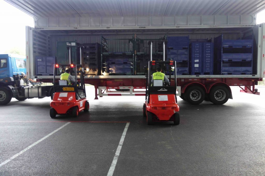 China loading truck