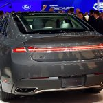 LOS ANGELES, CA. Nov. 18, 2015--Lincoln reveals a newly designed MKZ today at the Los Angeles International Auto Show (LAIAS) focusing on areas most desired by today's luxury midsize sedan customer -- quality, performance and style. The new MKZ is powered by a Lincoln exclusive 400 hp,3.0-liter GTDI V6 engine. Photo by: Sam VarnHagen