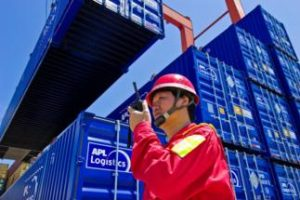 APL Domestic 53 Foot containers at Port of Chiwan China