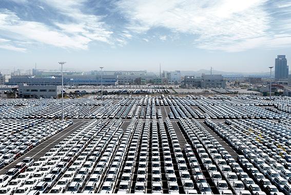 Hyundai Ulsan plant.port