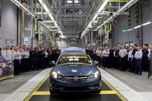The two millionth vehicle: A Holden Cascada cabrio for the Australian market