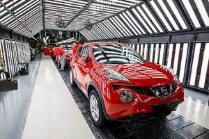 Production of Nissan Juke and Qashqai at Nissan Sunderland Plant