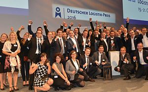 19.10.2016, Deutscher Logistik Kongress 2016 Berlin, Siegergruppenfoto AGCO GmbH und 4 Flow , Beide Teams