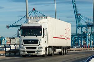 GLT truck in port
