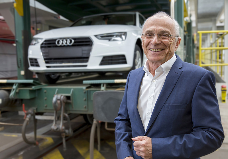 Dr Michael Hauf, Audi's head of brand logistics