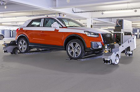 Audi FTS driverless vehicle transport system at the Ingolstadt site