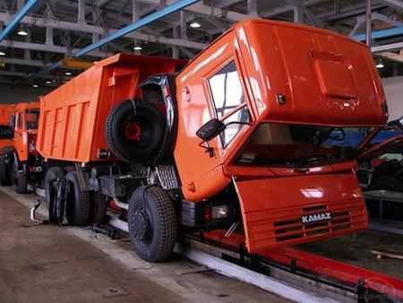 Kamaz assembly operation