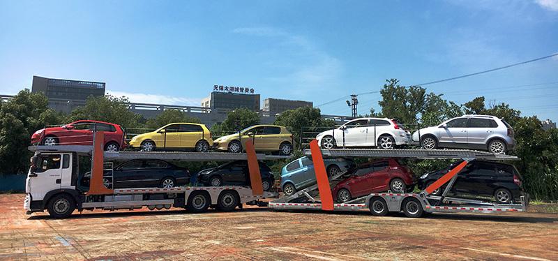 Lohr car transporter