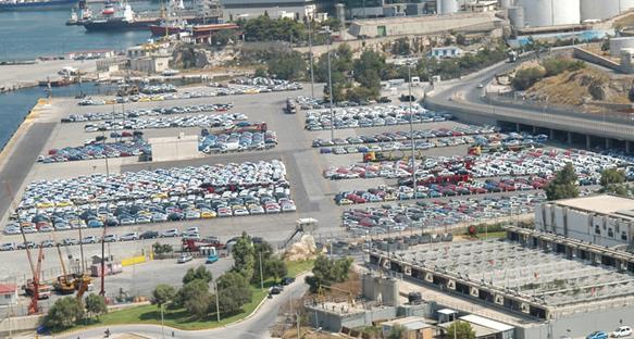 Vehicles at the Port of Piraeus