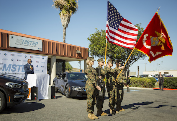 Camp Pendleton, CA - where BMW is working with the United States Marine Corps on technician training
