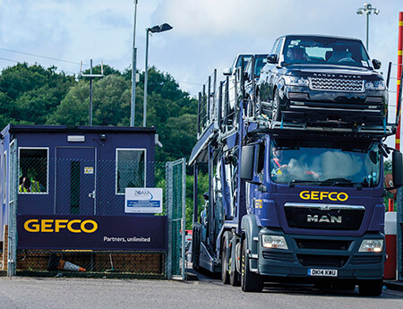 Gefco car transporter at Corby