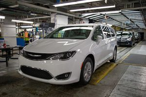 Chrysler Pacifica production at the Windsor plant in Canada