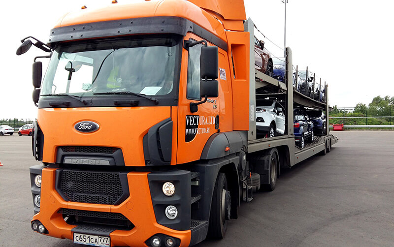 Russian car transporter
