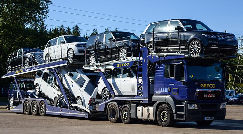 Gefco car transporter