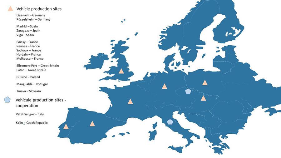 PSA production map