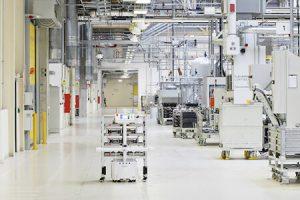 Škoda Auto autonomous robot at Vrchlabí component plant in the Czech Republic