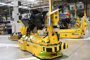 AGVs at new IAC factory in Halewood, UK