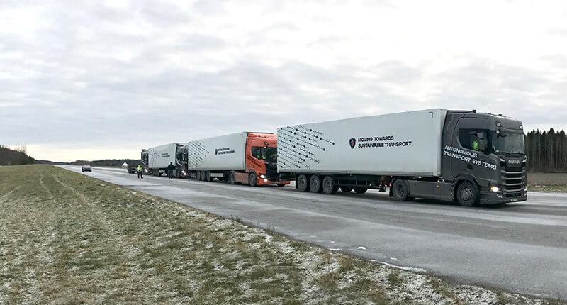 Scania truck platoon