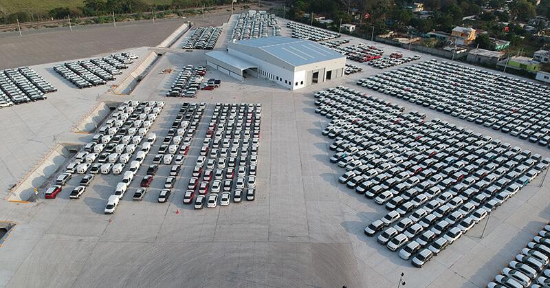 Hoegh facility outside the port of Veracruz