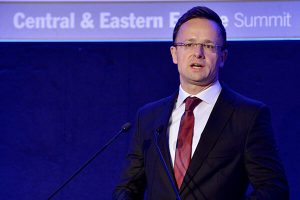 Hungarian minister for foreign affairs and trade, Peter Szijjártó
