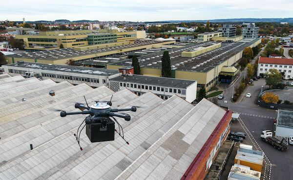 ZF drone delivery trial at Friedrichshafen, Germany