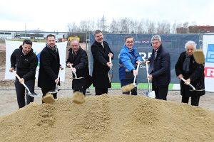 Ground breaking ceremony at new BMW logistics centre in Steyr, Austria