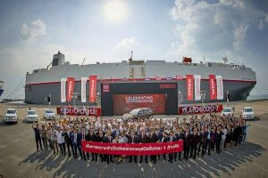 Nissan marks 1m exports from Thailand
