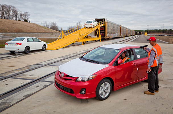 Toyota vehicle handling operations at Tupelo, Mississippi