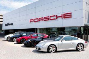 Porsche dealership in Toronto, Canada