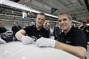 Markus Schaefer (L) and Wilfried Porth (R), Mercedes-Benz Bremen