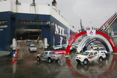 Mitsubishi pickup exports