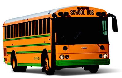 US orange bus