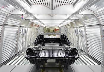 Túnel de luz, Porsche Leipzig