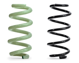 GFRP spring (L) and steel spring (R), Audi