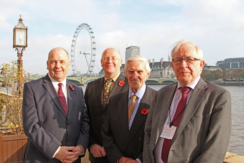 Left to right: Councillor Paul Watson, Leader of Sunderland City Council; Colin Lawther, Nissan's senior vice-president for Manufacturing in the UK; Lord Derek Foster; and Professor Garel Rhys